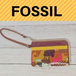 Fossil Multicolor Patterned Wristlet